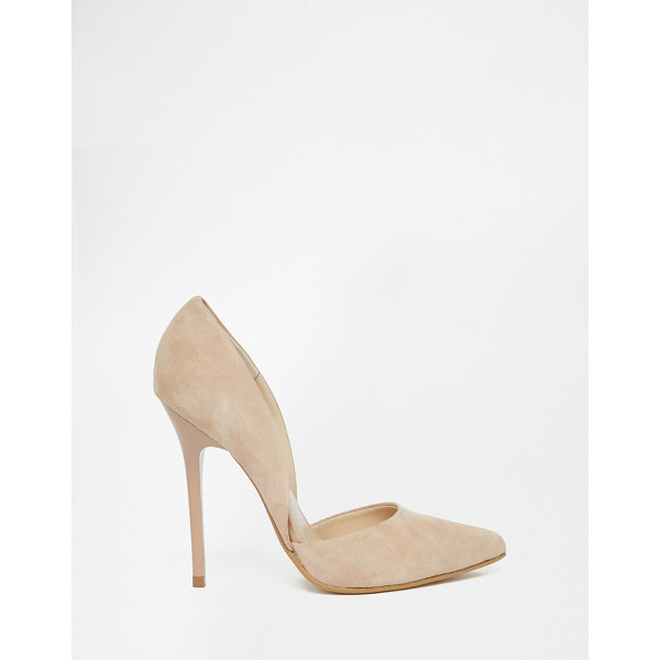 STEVE MADDEN Varcityy nude heeled pumps - Shoes by Steve Madden, Suede upper, Cut-away sides, Low-cut...