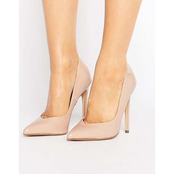 STEVE MADDEN Wicket Blush Heeled Pumps - Heels by Steve Madden, Faux-leather upper, Patent finish,...