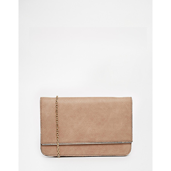 STREET LEVEL Foldover clutch bag - Cart by Street Level Matte faux leather Front flap,...