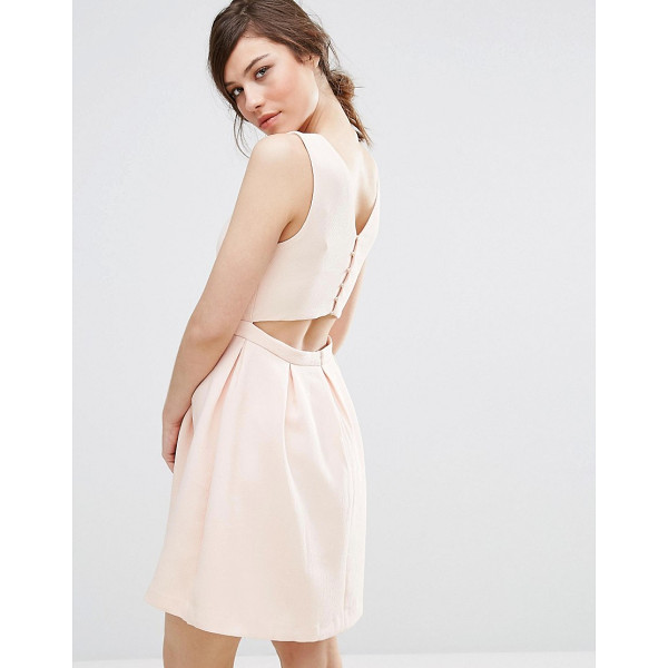 """SUNCOO Back Detail Dress - """"""""Dress by Suncoo, Textured woven fabric, Smooth lining,..."""