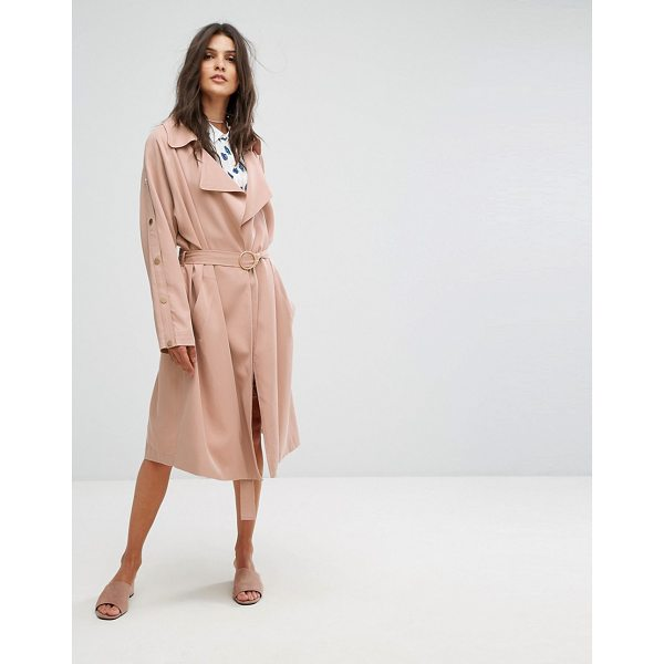 "SUNCOO Clean Duster Coat - """"Coat by Suncoo, Smooth woven fabric, Unlined design, Tie..."