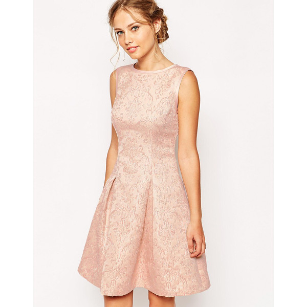 TED BAKER Dress in jacquard - Dress by Ted Baker Floral, metallic jacquard Round neckline...