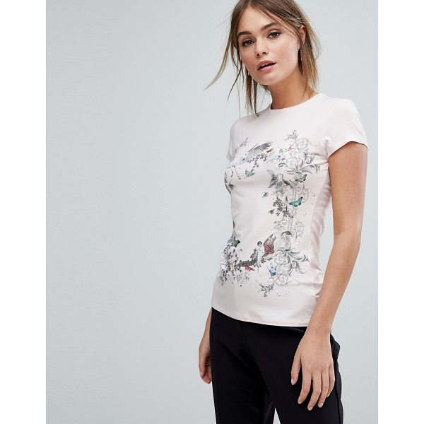 TED BAKER Enchanted Dream Fitted T-Shirt - T-shirt by Ted Baker, Soft knitted fabric, Crew neck,...