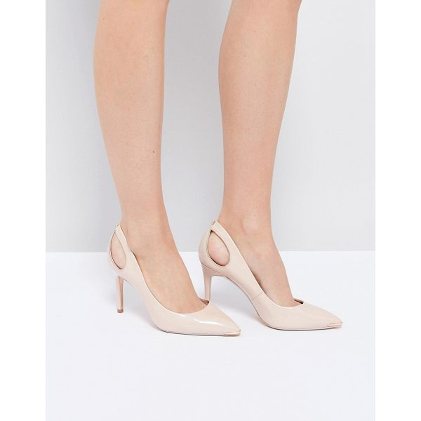 "TED BAKER Jesamin Patent Bow Cutout Pumps - """"Heels by Ted Baker, Patent leather upper, Slip-on style,..."
