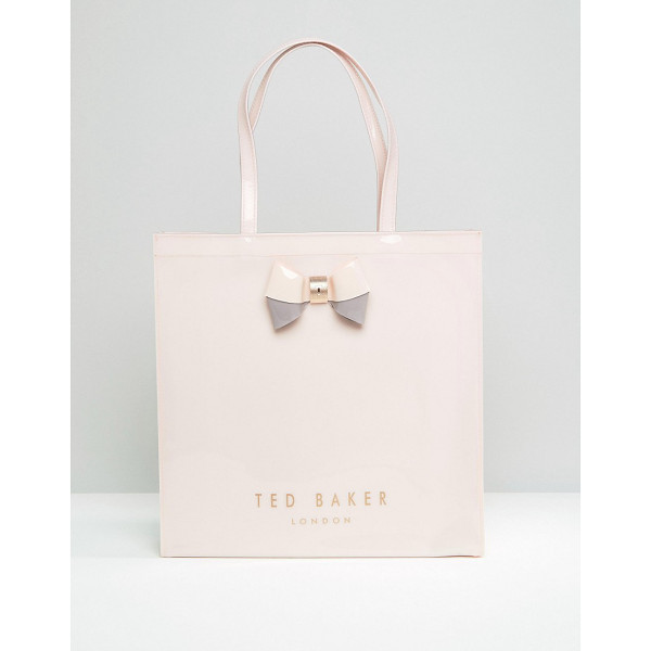 TED BAKER Large icon bag in pale pink - Cart by Ted Baker, Glossy outer, Unlined design, Twin...