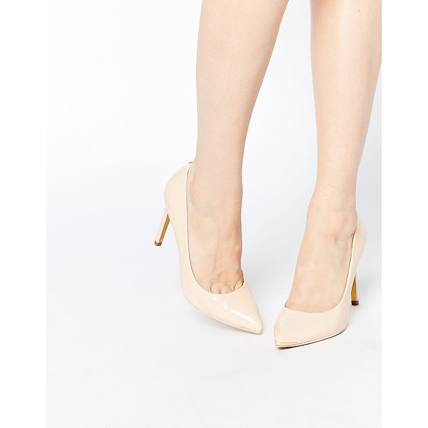 TED BAKER Neevo 4 Patent Heeled Pumps - Heels by Ted Baker, Patent leather upper, Slip-on design,...