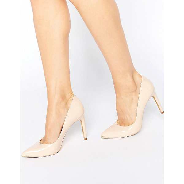 "TED BAKER Neevo Nude Patent Pumps - """"Heels by Ted Baker, Leather upper, Pointed toe, Pointed..."