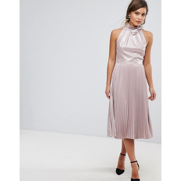 TED BAKER Pleated Midi Dress - Dress by Ted Baker, Iridescent finish, It s time to shine,...