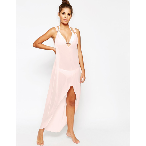 TED BAKER Rose beach cover-up - Beach cover up by Ted Baker Semi-sheer chiffon Plunge...