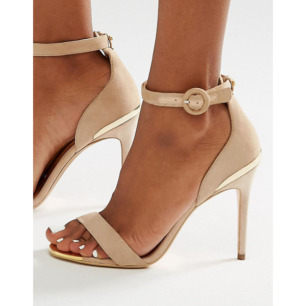 TED BAKER Suede 2 Part Heeled Sandals - Heels by Ted Baker, Suede upper, Ankle-strap fastening,...