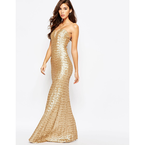 """TFNC Showstopper Sequin Maxi Dress - """"""""Maxi dress by TFNC, Sequinned mesh, Fully lined, Bandeau..."""