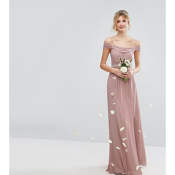 "TFNC TALL Wedding Cold Shoulder Embellished Maxi Dress - """"Tall dress by TFNC, Lightweight lined fabric, Scoop neck,..."
