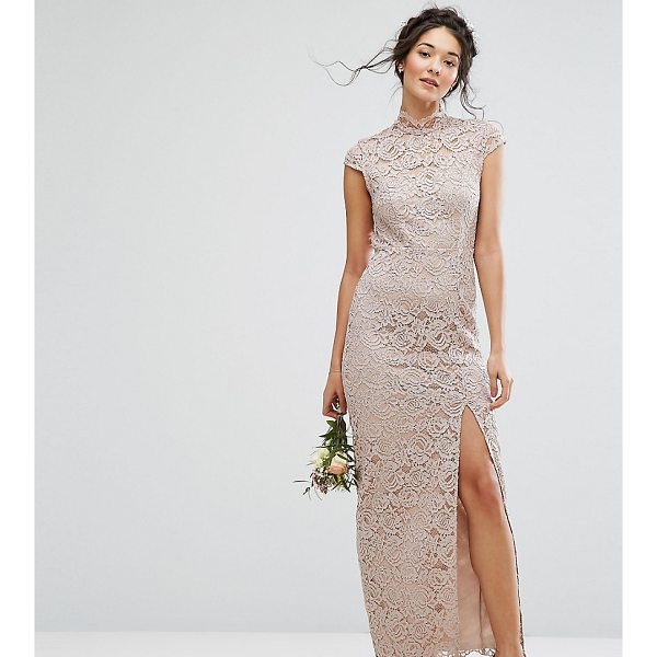"TFNC WEDDING High Neck Lace Dress With Cap Sleeve - """"Lace dress by TFNC, Floral lace, Partial lining, High..."