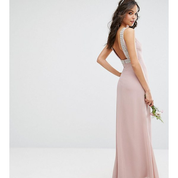 """TFNC WEDDING High Neck Maxi Dress with Embellished Low Back - """"""""Maxi dress by TFNC, Lightweight lined fabric, High neck,..."""