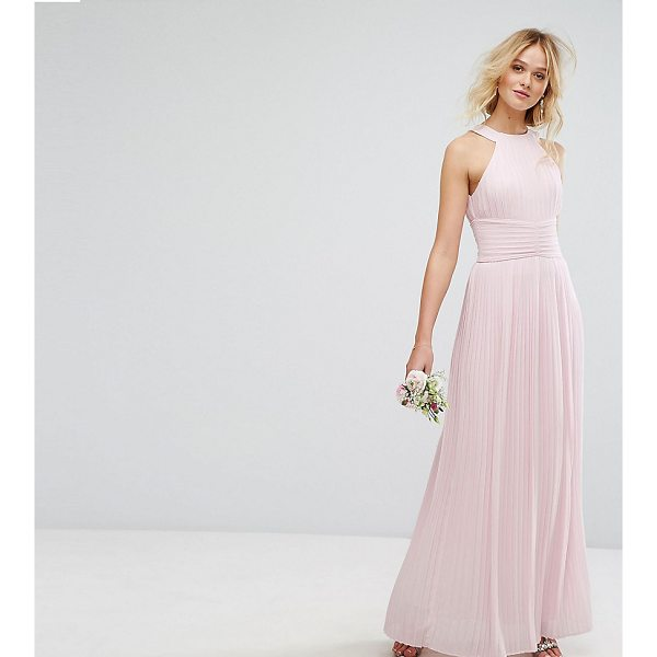 "TFNC WEDDING High Neck Pleated Maxi Dress - """"Maxi dress by TFNC, Lined woven fabric, Pleated design,..."