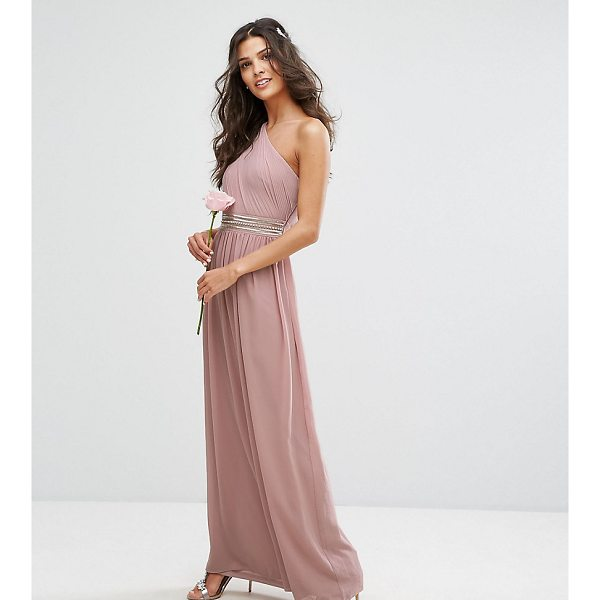 "TFNC One Shoulder Embellished Maxi Bridesmaid Dress - """"Maxi dress by TFNC, Lined chiffon, One-shoulder design,..."