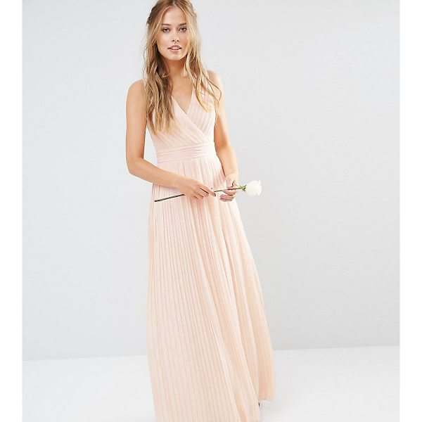 TFNC WEDDING Pleated Wrap Maxi Dress - Maxi dress by TFNC, Lined pleated chiffon, V-neckline, Wrap...