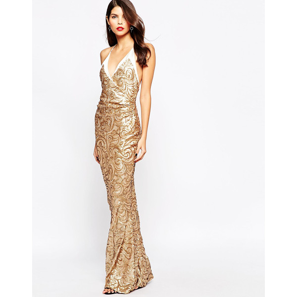 THE CRYSTAL COLLECTION BY VESPER Odessy Sequin Maxi Dress - Maxi dress by The Crystal Collection by Vesper, Mid-weight...