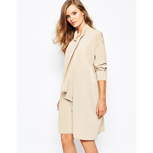 THE LADEN SHOWROOM X mirror mirror pussy bow shirt dress - Casual dress by The Laden Showroom Lightweight woven fabric...