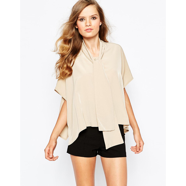 THE LADEN SHOWROOM X Mirror Mirror Pussy Bow Shirt - Shirt by The Laden Showroom, Lightweight woven fabric,...