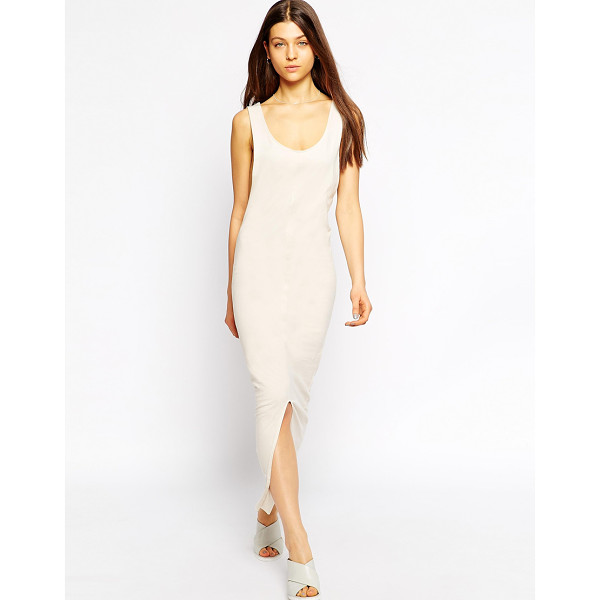 TIRED OF TOKYO Sleeveless jersey maxi dress with asymetric hem - Casual dress by Tired of Tokyo Super soft jersey Scoop...