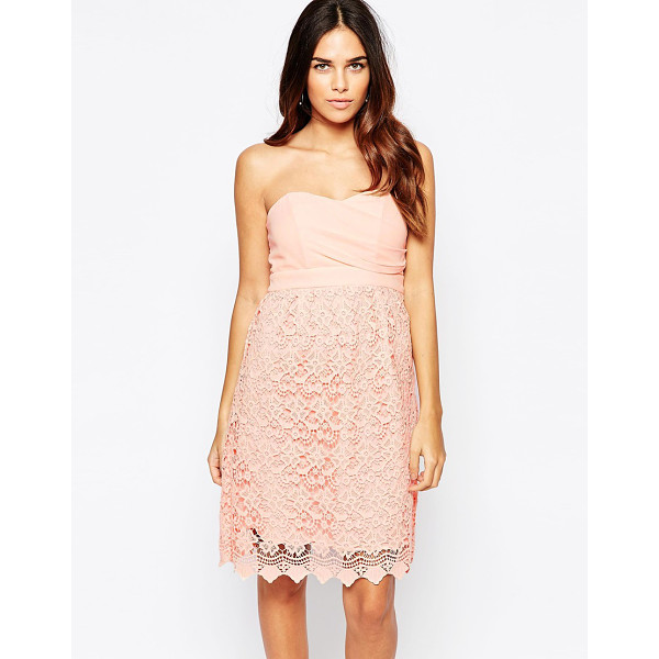 TRAFFIC PEOPLE Carry On Crochet Crusade Dress With Bandeau Top - Dress by Traffic People, Lightweight design, Lined chiffon...