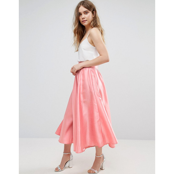 TRAFFIC PEOPLE Pleated A Line Skirt - Skirt by Traffic People, Smooth satin-style fabric,...
