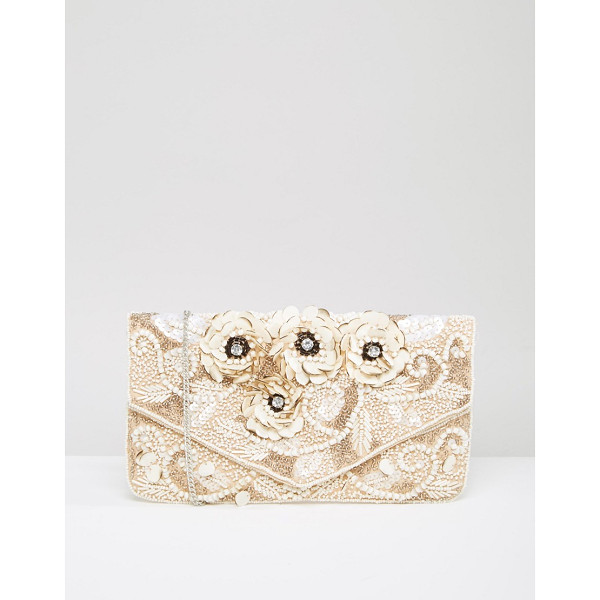 TRUE DECADENCE Embelished Beaded Clutch Bag - Clutch bag by True Decadence, Bead embellished fabric