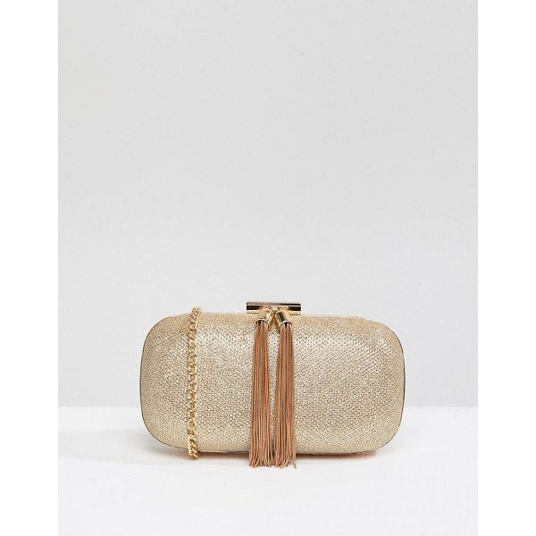 TRUE DECADENCE Glitter Clutch Bag With Tassel Detail - Clutch bag by True Decadence, Textured glitter outer, Fully...