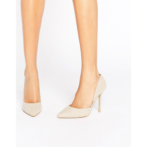"TRUE DECADENCE Heeled Court Shoe - """"Shoes by True Decadence, Textile upper, Slip-on style,..."