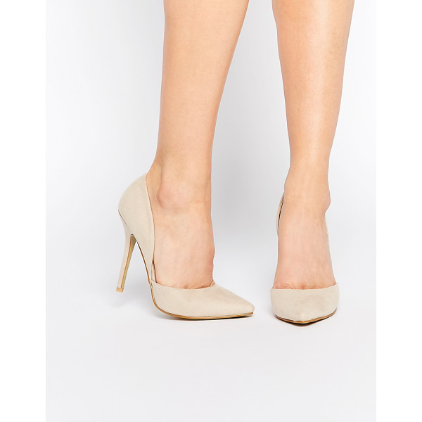 "TRUE DECADENCE Nude Heeled Pumps - """"Heels by True Decadence, Suede-look upper, Point heel,..."