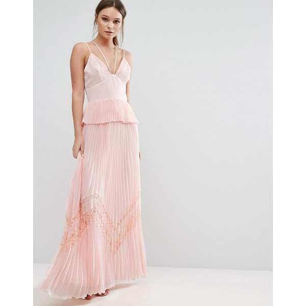 """TRUE DECADENCE Pleated Strappy Maxi Dress - """"""""Maxi dress by True Decadence, Woven fabric, Plunge front,..."""