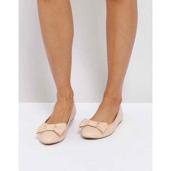 TRUFFLE COLLECTION Bow Ballerina - Shoes by Truffle, Faux-leather upper, Slip-on design, Bow...
