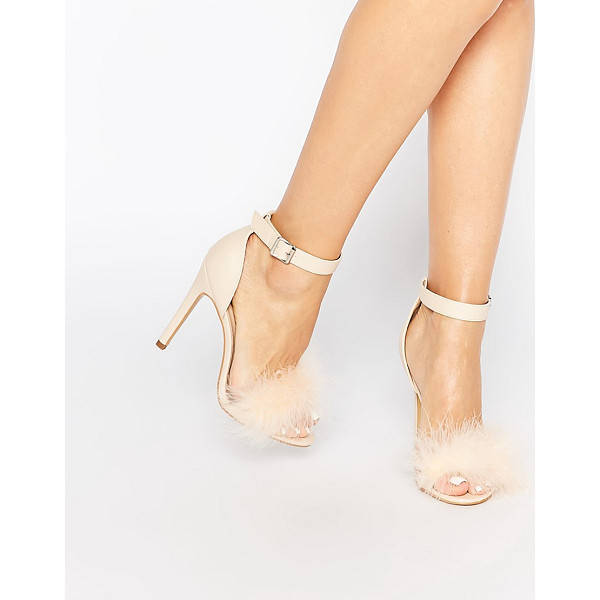 TRUFFLE COLLECTION Helen fluffy barely there heeled sandals - Shoes by Truffle Faux leather upper Barely there style...