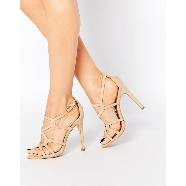 TRUFFLE COLLECTION Helen strappy heeled sandals - Shoes by Truffle Collection, Suede-look upper, Strappy...