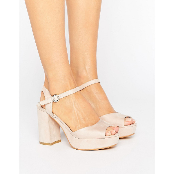 TRUFFLE COLLECTION Kitten heel Platform Sandals - Shoes by Truffle, Faux-suede upper, Ankle-strap fastening,...