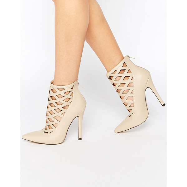 TRUFFLE COLLECTION Skye Cut Out Heeled Shoes - Shoes by Truffle Collection, Leather-look upper, Matte...