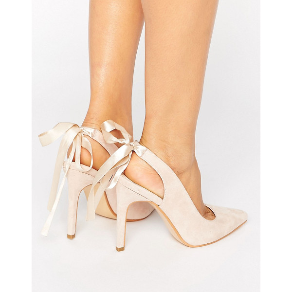 """TRUFFLE COLLECTION Tie Ankle Heeled Court Shoe - """"""""Shoes by Truffle, Faux-suede upper, Ankle-strap..."""