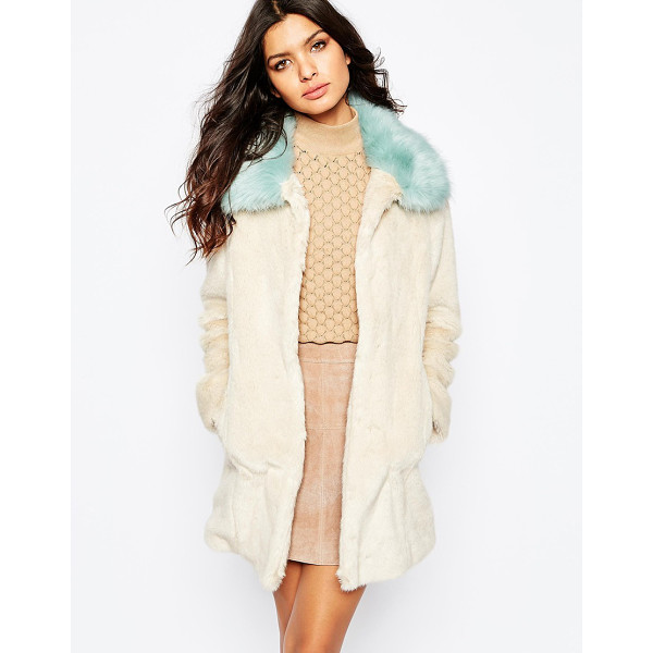 UNREAL FUR Candy blossom coat - Coat by Unreal Fur Faux fur fabric Fully lined design...