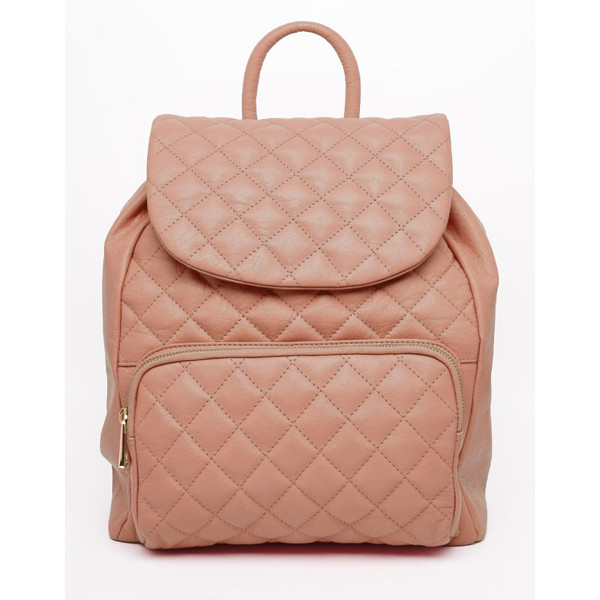 URBANCODE Leather quilted backpack - Cart by Urbancode Quilted leather outer Grab handle Zipped...