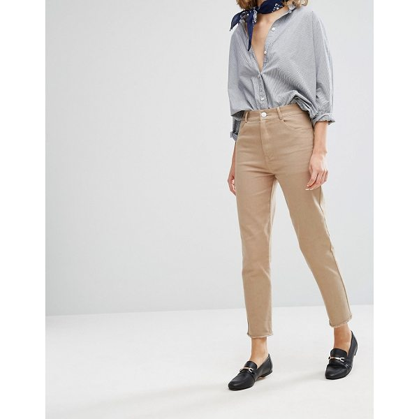 """VALE High Rise Fray Hem Cropped Jean - """"""""Jeans by Valery, Non-stretch denim, High-rise waist,..."""