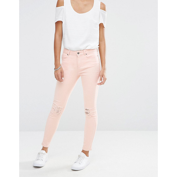 VERO MODA Busted Knee Skinny Jeans - Skinny jeans by Vero Moda, Firm-stretch denim, Mid rise,...