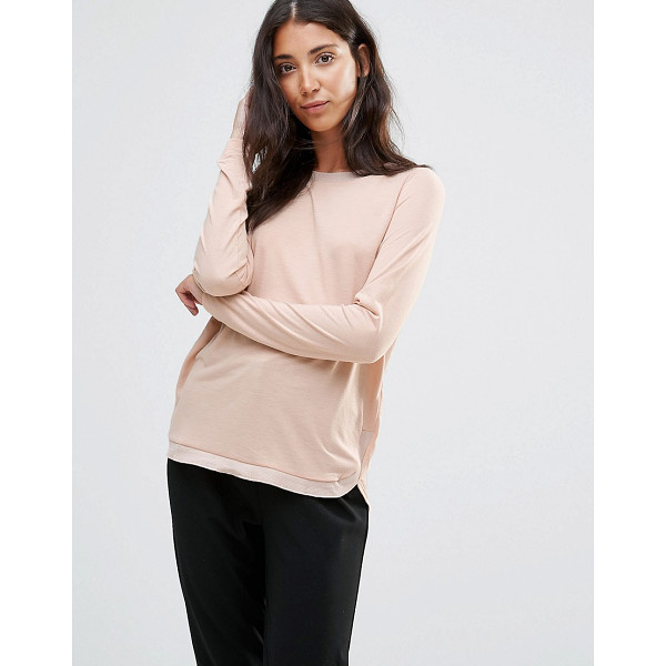 VERO MODA Sand Long Sleeve T-Shirt - Top by Vero Moda, Soft touch jersey, Scoop neckline, Long...