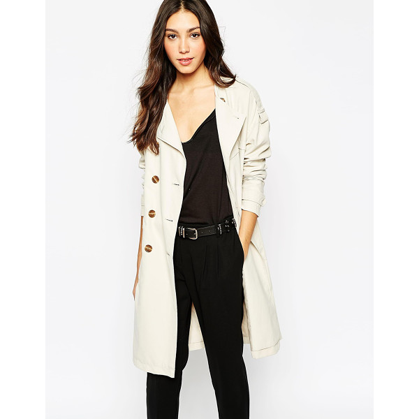 VERO MODA Trench coat - Trench by Vero Moda Smooth-touch, woven fabric Fully lined...