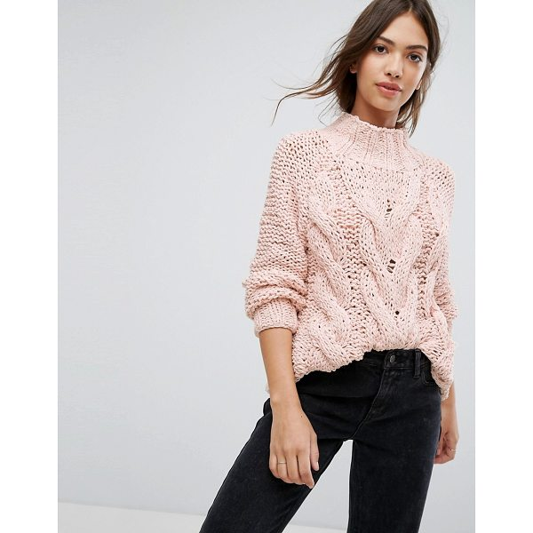 "VILA Cable Knit Sweater - """"Sweater by Vila, Chunky cable knit, High neck, Fitted..."
