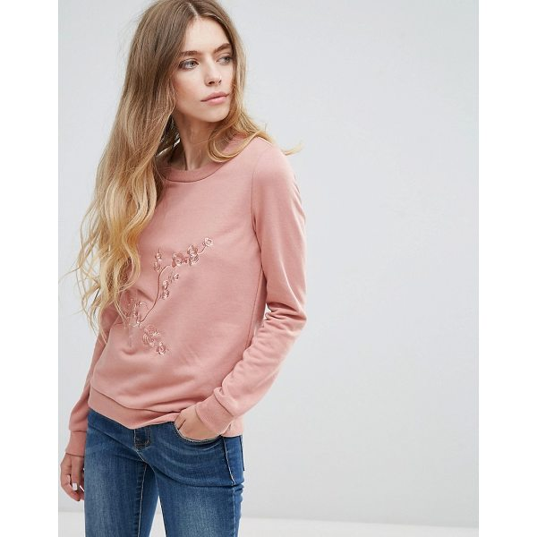 "VILA Embroidered Sweatshirt - """"Sweatshirt by Vila, Soft-touch sweat, Embroidered detail,..."