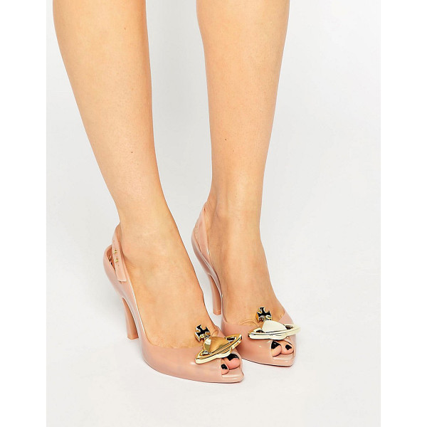 VIVIENNE WESTWOOD Lady Dragon Nude Orb Sling Heeled Sandal - Shoes by Vivienne Westwood For Melissa, Recyclable plastic...