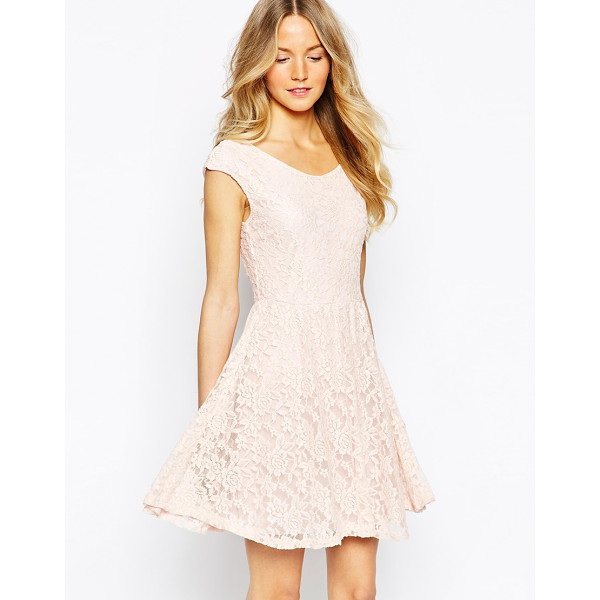 WAL G Lace skater dress - Skater dress by Wal G Lined stretch lace Scoop neckline Low...