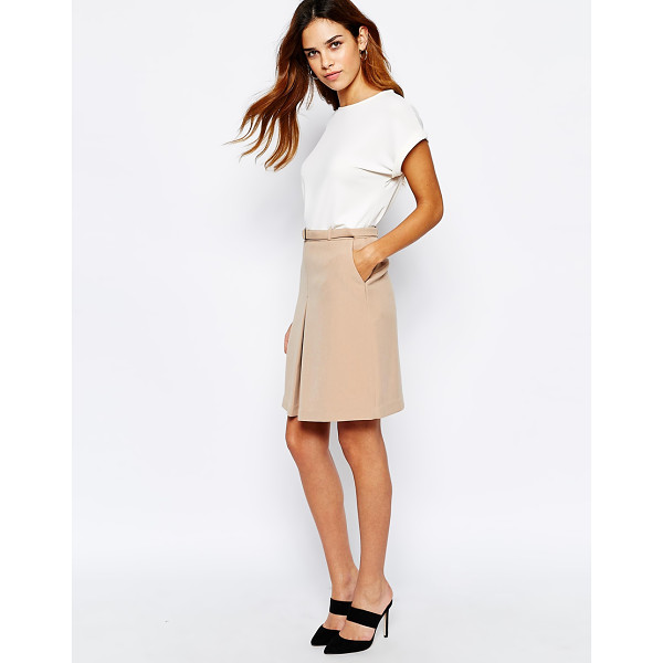 WAREHOUSE 60s a-line skirt - Skirt by Warehouse Mid-weight fabric Soft-touch finish...