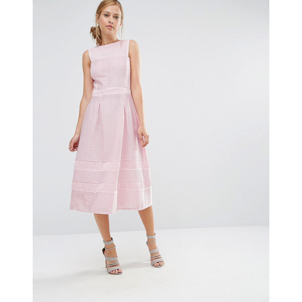 "WAREHOUSE A Line Midi Prom Dress - """"Dress by Warehouse, Lined woven fabric, Textured finish,..."